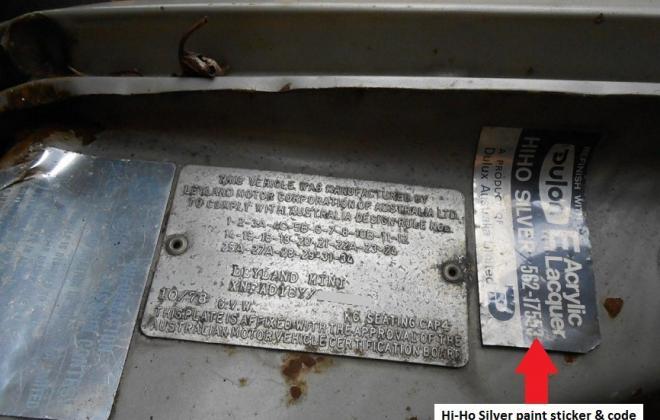 1275LS Hi-Ho Silver Paint ID sticker.JPG