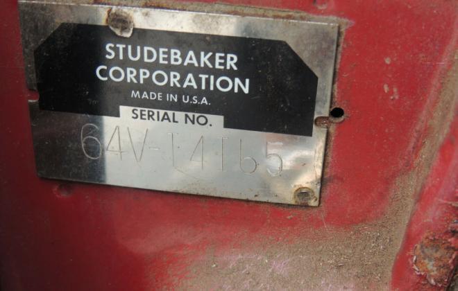 194 Studebaker Daytona Bordeaux Red unrestored R1 original hardtop (8).jpg