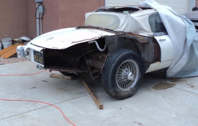 1962 Series 1 Jaguar E-type under restoration New Mexico (1).JPG