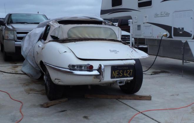 1962 Series 1 Jaguar E-type under restoration New Mexico (2).JPG