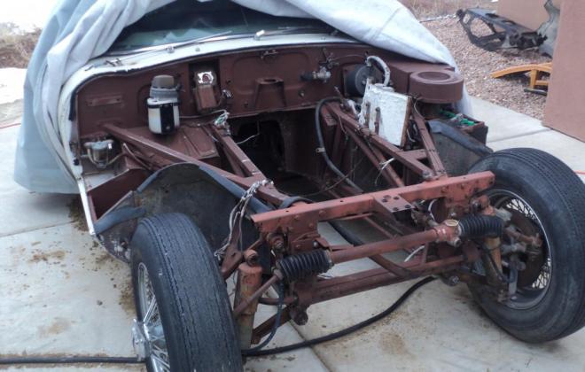 1962 Series 1 Jaguar E-type under restoration New Mexico (4).JPG