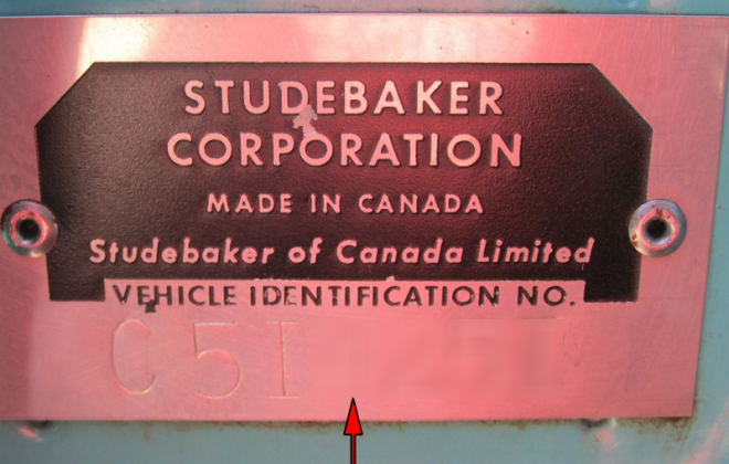 1965 STudebaker Sports Sedan VIN plate - chassis plate - serial number (1).png