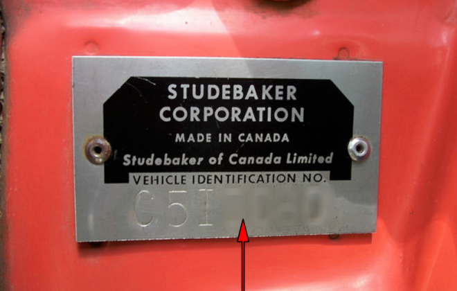 1965 STudebaker Sports Sedan VIN plate - chassis plate - serial number (2).png