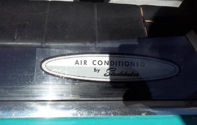 1965 Studebaker Daytona 2 Door Sedan air conditioned sticker.png