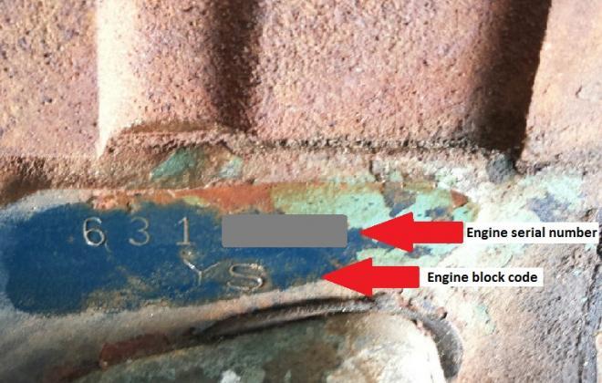 1966 Pontiac GTO engine stamp code and serial number.jpg