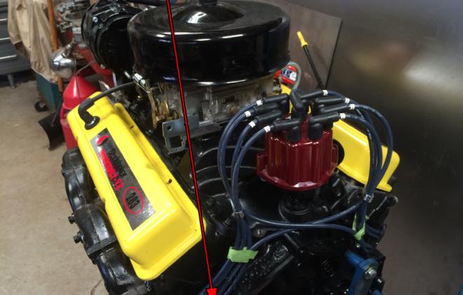 1966 Studebaker 283 1965 - 1966 V8 engine block casting number 3849852.png