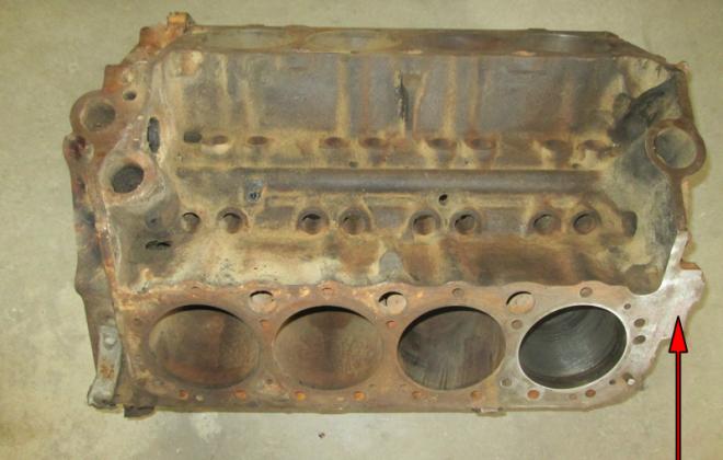 1966 Studebaker Daytona 283 V8 Mckinnon engine number stamping location (1).png