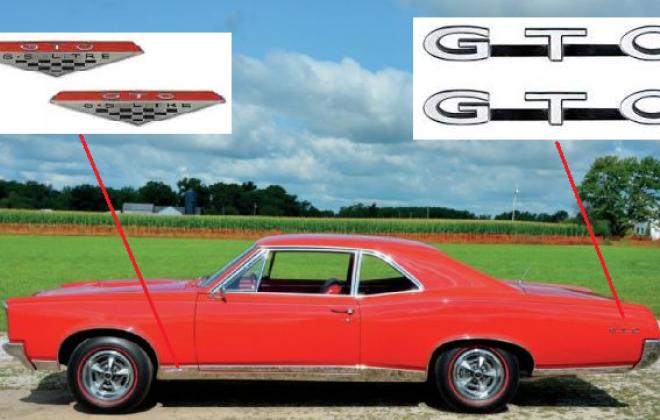 1967 Pontiac GTO badges.png
