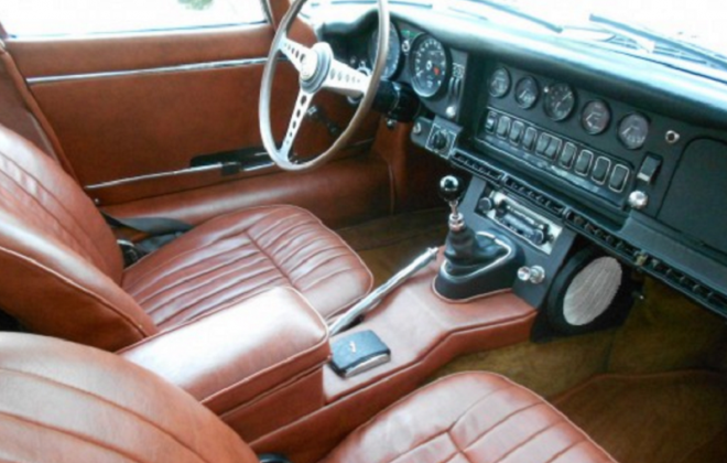 1968 Jaguar E-Type XK-E Series 1.5 Tan interior image (2).png