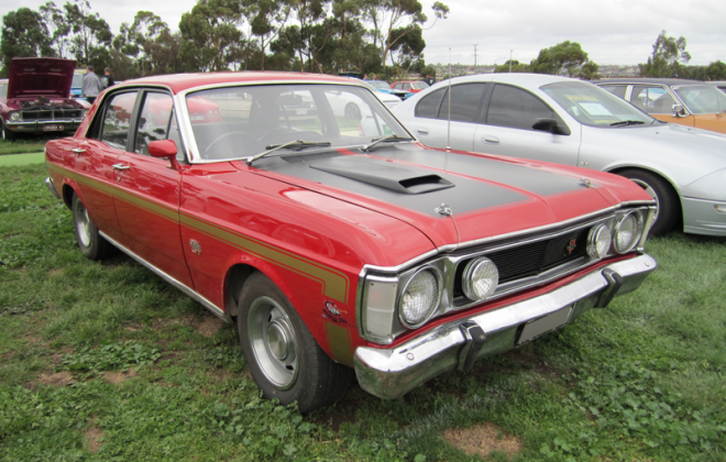 1969 - 1970 XW Ford Falcon GT HO Track Red paint image .png