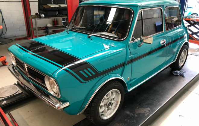 1972 Gambier Turquoise Mini Clubman GT Australia restoration images (1).png