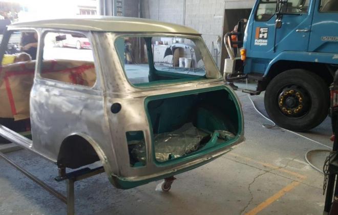 1972 Gambier Turquoise Mini Clubman GT Australia restoration images (2).jpg