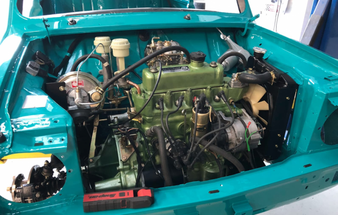 1972 Gambier Turquoise Mini Clubman GT Australia restoration images (2).png
