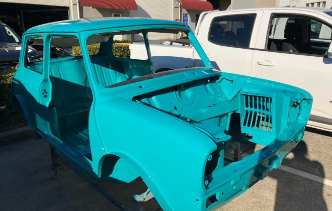 1972 Gambier Turquoise Mini Clubman GT Australia restoration images (4).png