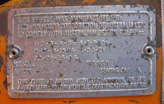 1973 Clubman GT Australia ID plate compliance.jpg