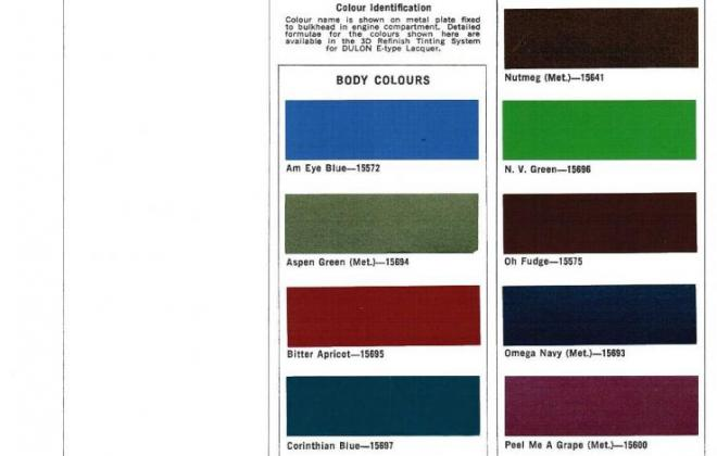 1973 Leyland Mini Clubman GT paint codes.jpg