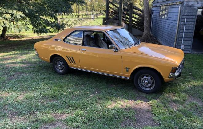 1973 Mitsubishi Galant Coupe yellow NZ (1).jpg