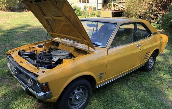 1973 Mitsubishi Galant Coupe yellow NZ (14).jpg
