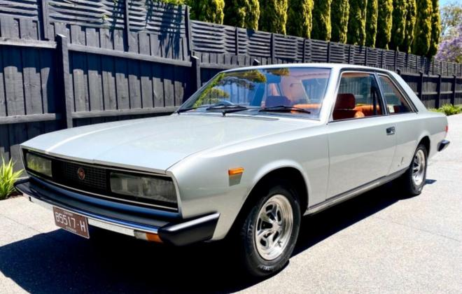1974 Fiat 130 coupe silver Australia restored images (2).jpg