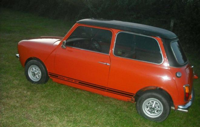 1974 Mini 1275 GT ornge UK early 10 inch wheels (9).jpg