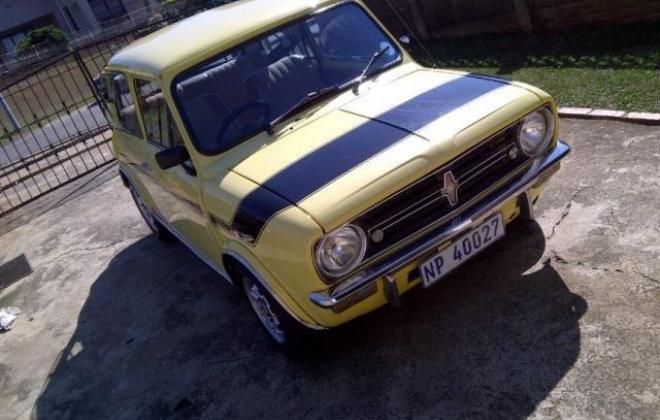 1978 Leyland Mini GTS South Africa Yellow paint black stripe (1).jpg
