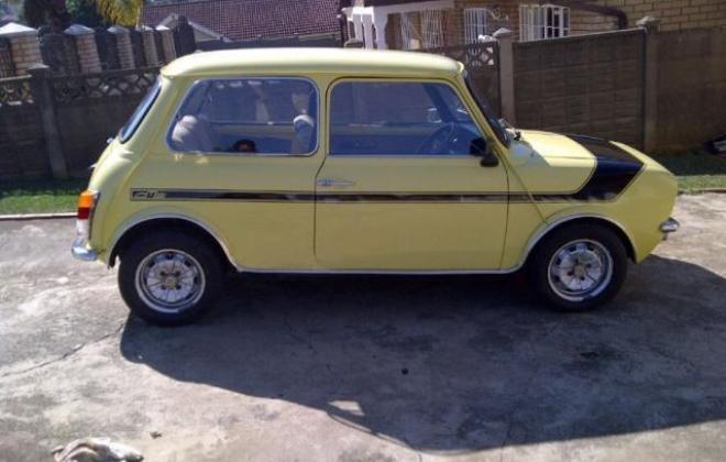 1978 Leyland Mini GTS South Africa Yellow paint black stripe (3).jpg