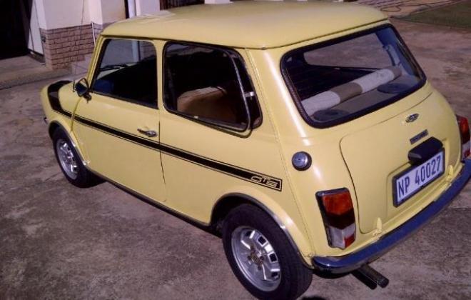 1978 Leyland Mini GTS South Africa Yellow paint black stripe (6).jpg
