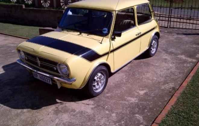 1978 Leyland Mini GTS South Africa Yellow paint black stripe (8).jpg