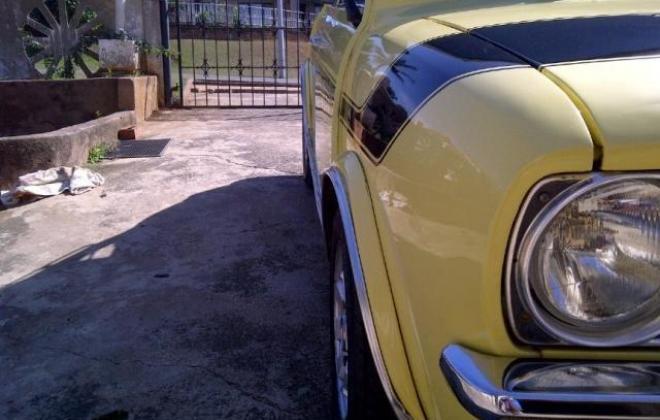 1978 Leyland Mini GTS South Africa Yellow paint black stripe (9).jpg