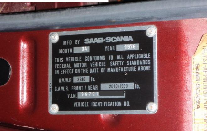 1978 Saab VIN USA.png