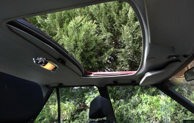 1981 Ford Falcon XD ESP Red original V8 interior image sunroof (1).png
