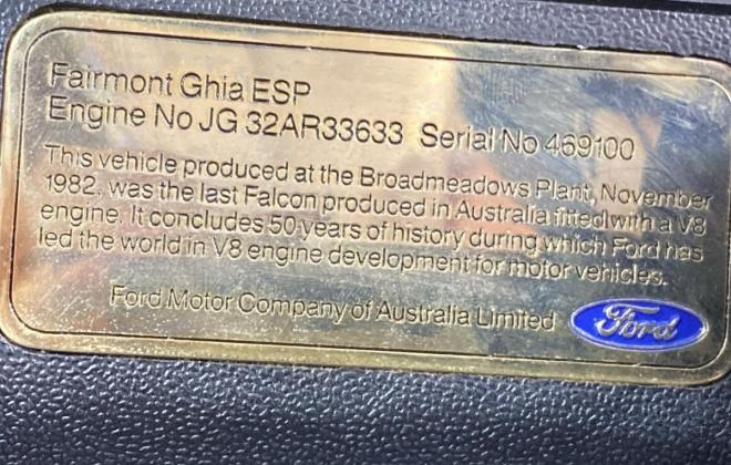 1982 Ford XE ESP very last built final car V8 4.9 images (12).jpg