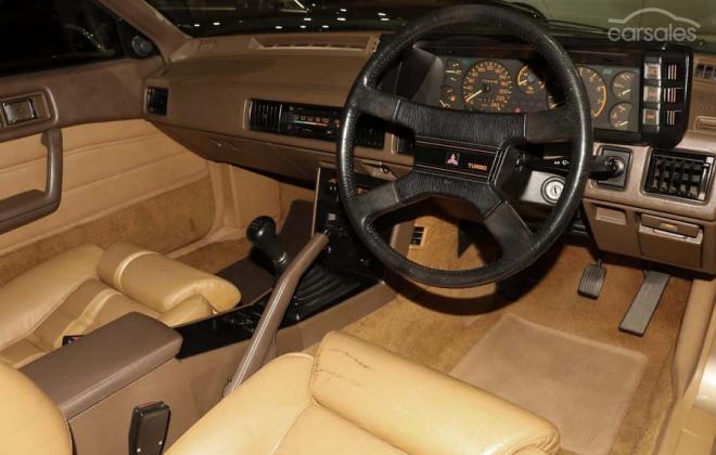 1983 Mitsubishi Starion JA turbo Australia gold (17).jpg