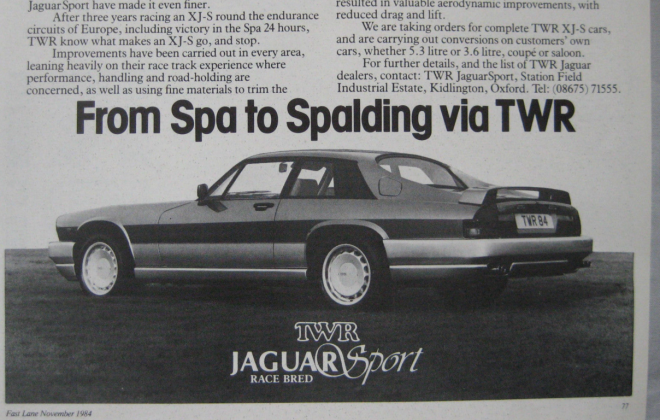 1984 magazine issue advertising Jaguar Sport.png