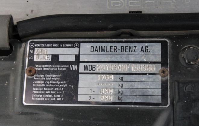 1985 Mercedes Benz 190E 2.3 AMG Cosworth Australia sedan black images 2021 (5).jpg