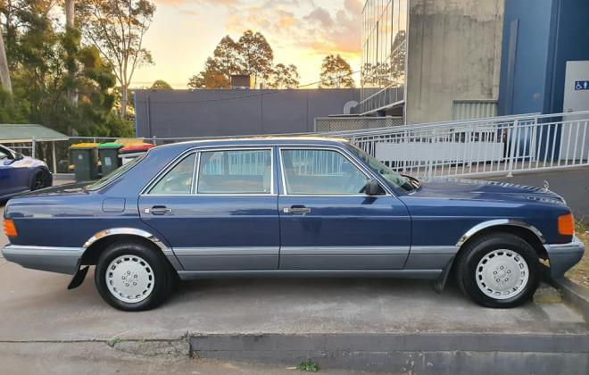 1986 Mercedes 560 SEL Blue sedan Australian delivered images (15).jpg