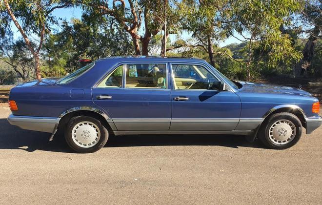 1986 Mercedes 560 SEL Blue sedan Australian delivered images (16).jpg