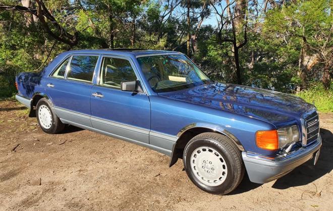 1986 Mercedes 560 SEL Blue sedan Australian delivered images (3).jpg