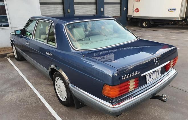 1986 Mercedes 560 SEL Blue sedan Australian delivered images (8).jpg