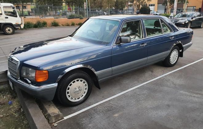 1986 Mercedes 560 SEL Blue sedan Australian delivered images (9).jpg