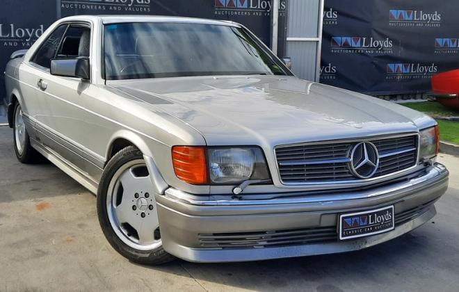 1986 Smoke Silver Mercedes 560SEC with Lorinser body kit C126 images (1).jpg