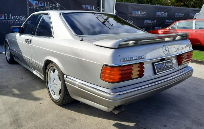 1986 Smoke Silver Mercedes 560SEC with Lorinser body kit C126 images (2).jpg