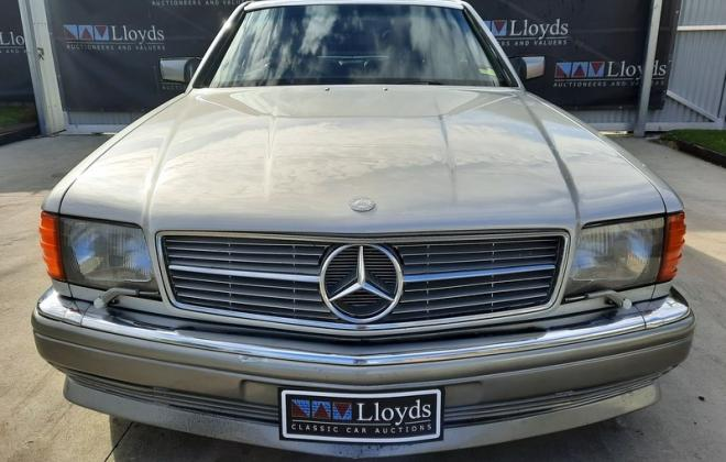 1986 Smoke Silver Mercedes 560SEC with Lorinser body kit C126 images (4).jpg
