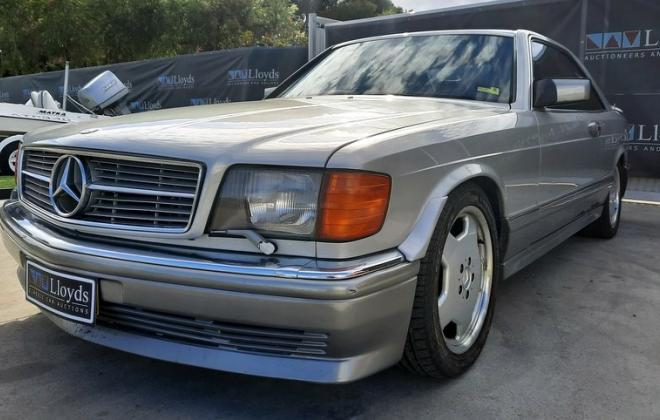 1986 Smoke Silver Mercedes 560SEC with Lorinser body kit C126 images (5).jpg