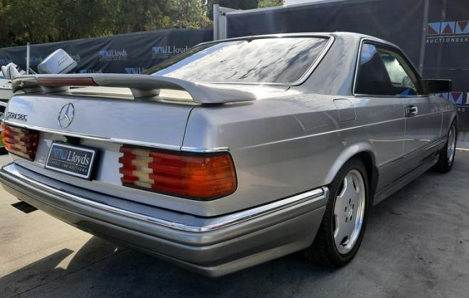 1986 Smoke Silver Mercedes 560SEC with Lorinser body kit C126 images (7).jpg