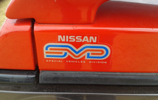 1989 1990 Nissan Skyline R31 GTS2 SVD Silhouette rear trunk SVD decal.png