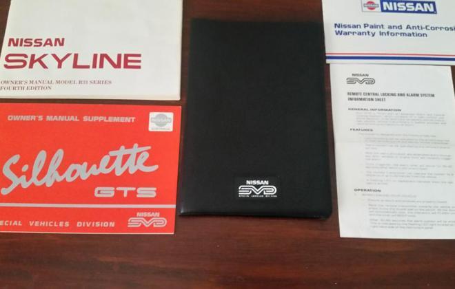 1989 GTS2 Skyline R31 SVD Silhouette  user manuals.jpg