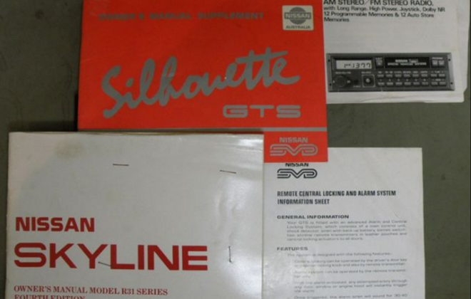 1989 GTS2 Skyline R31 SVD Silhouette  user manuals.png