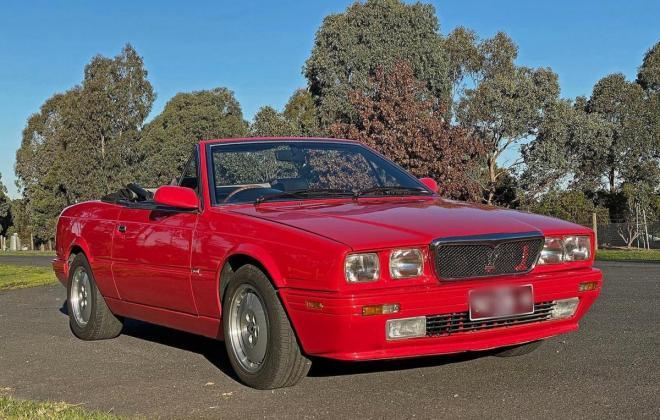 1990 Maserati Biturbo Spyder convertible red images RHD (12).jpg