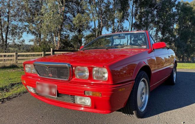 1990 Maserati Biturbo Spyder convertible red images RHD (4).jpg